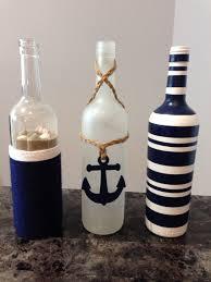 Nautical upcycled wine bottle by SmartHippie on Etsy | Crafts | Pinterest |  Bottle, Wine and Etsy