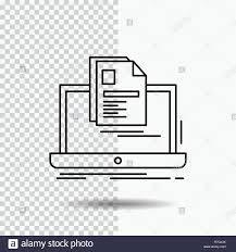 resume print account laptop report print resume line icon on transparent