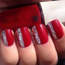 Nail art red Beautify themselves with sweet nails