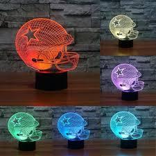 dallas cowboys lamp new cowboys night light 7 color change led table lamp gift dallas cowboys dallas cowboys lamp
