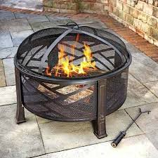round fire pit fire pit glass wind guard