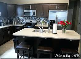 brown painted kitchen cabinets. Painting Kitchen Cabinets Dark Brown Cool Chocolate Painted  Sleek From