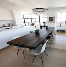Kitchen Modern Table Glass Dining Room Table White Round Dining