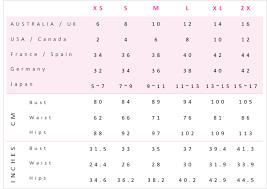 Australian Clothing Size Conversion Chart Womens Australian Size Chart Rove Best Of Womens Travel Fashion