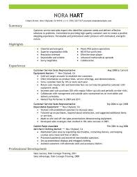 Customer Service Representative Resume Job Sample Resume Resume