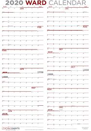 12 Months 2020 Calendar 2020 Yearly Ward Calendar Leading Saints