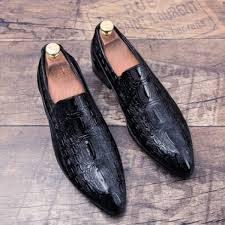 senarai harga men s english style pointed toe slip on faux leather shoes 306