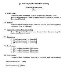 How To Write Meeting Minutes Printable Template Of Meeting Minutes Formal Meeting
