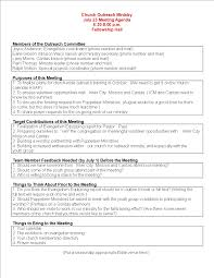 Ministry Meeting Agenda Template Free Church Meeting Agenda Outline Templates At