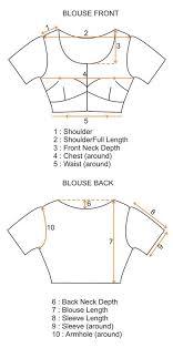 Blouse Shoulder Measurement Chart Custom Blouse Stitching