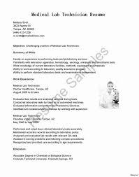 Medical Lab Technician Cover Letter Sarahepps Com