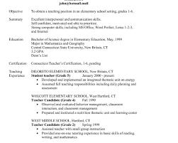 Freshers Resume Samples For Teachers Fresher Resume Samples