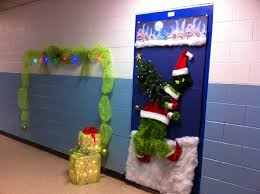 office holiday decor. grinch door decorating contest entry office holiday decor