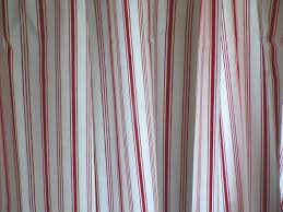 ikea long cotton tab top curtains red striped ticking fabric alvine smal