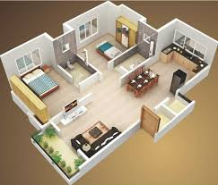 two bedroom house plans. Delightful 3d Two Bedroom House Layout Design Plans 22449 Interior Ideas Simple Plan With 2 Bedrooms And Garage Picture