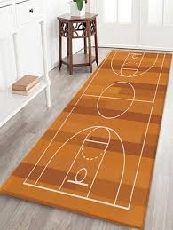 unique basketball court print water absorption area rug