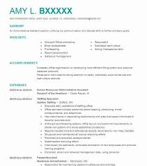 Hr Assistant Cv Human Resources Administrative Assistant Resume Sample Livecareer