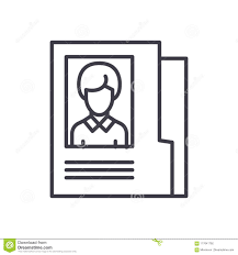Employee Personal File Black Icon Concept Employee Personal File