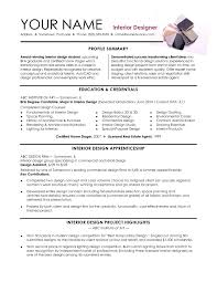 Interior Design Resume Template Word Unique Interior Design Intern