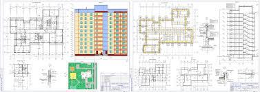 Курсовые и дипломные проекты Многоэтажные жилые дома скачать  Курсовой проект Крупнопанельный 9 этажный жилой дом г