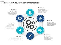Ppt Smart Art Six Steps Circular Gears Infographics Ppt Powerpoint
