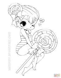 Small Picture Chibi Lollipop Girl coloring page Free Printable Coloring Pages