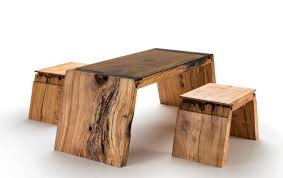 furniture made of wood. Broken Wood Furniture By Jalmari Laihinen - Table Set Made Of BestDesignIdeas.com