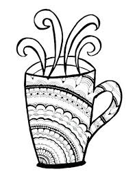 Starbucks Coffee Mug Template Iced Coffee Coloring Pages Coffee Cups