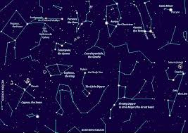 Constellation Sky Chart Stars And Mythology Earth And Space Year 5