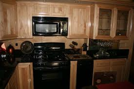 maple kitchen cabinets with black appliances. Kitchens With Black Appliances | Beautiful Kitchen And Natural Maple Cabinets L