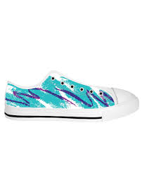 90s Blue Cup Design Paper Cup White Sole Low Tops