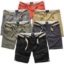 Details About Surplus Raw Vintage Mens Chino Shorts Bermudas Fabric Trousers M Belt