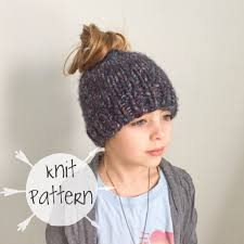 Messy Bun Beanie Knitting Pattern New Decorating