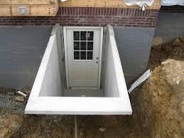 basement egress doors. Precast Basement Entrance Installation Egress Doors O