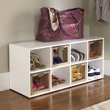shoe organizer furniture. 8-Compartment 16 Pair Shoe Rack Organizer Furniture