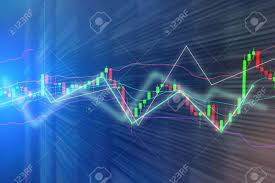 Free Stock Market Charts And Graphs Stock Market Chart Graph On Blue Background Finance Concept