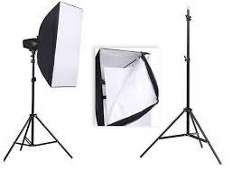 ox 250sdi studio flash three lamp set 250w photographic photography equipment soft box