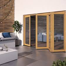 Image Ideas Home Patio Doors Foldingsliding Jeldwen Lowes Jeldwen 3000mm Kinsley Hardwood Folding Patio Doors Doorsdirect2u