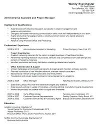 Resume Examples For Administrative Assistant Cool Administrative Assistant Resume Samples 48 Examples Executive