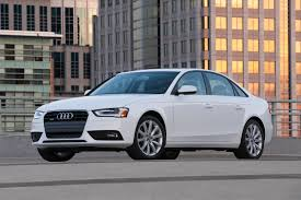 audi a4 2014 white. elegant white 2014 audi a4 show off in the apartment parking area