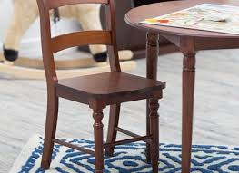 kids table and chair set childrens round wood playtime desk