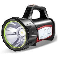 Đèn pin siêu sáng 3500 lumens, tầm chiếu xa 2000m thương hiệu Smiling  Shark, hỗ trợ tìm kiếm cứu nạn, làm sạc dự phòng, làm đèn cắm trại, chống  nước, hoạt động