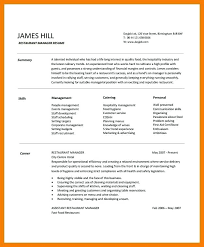 Fast Food Restaurant Manager Resume Restaurant General Manager Resume Samples Free Resume