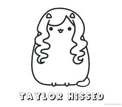 Coloring Pages Pusheen Coloring Pages Unicorn Free Page To Print