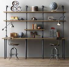 office shelving units. Custom Vintage Industrial Scaffold Gas Pipe Desk / Shelving Unit | Business, Office \u0026 Units