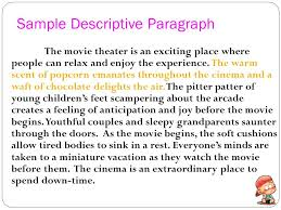 example of a descriptive essay about a place writing  example
