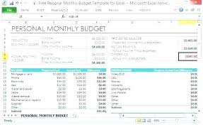 Excel Monthly Bill Tracker Budget Template Excel Free Free Budget Template Free Budget Template