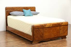Art Deco Full Size Mahogany Bed, Signed Joerns Bros of Stevens Point, WI