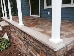 cultured stone patio construction