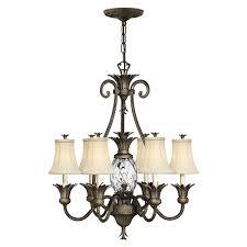hinkley lighting plantation 7lt chandelier pearl bronze